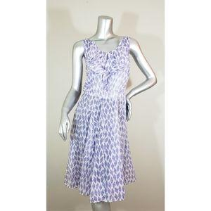 Meadow Rue Purple & White Kite Ruffle Dress